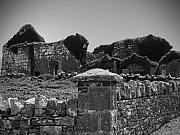 Cross Photos - Ruins in the Burren County Clare Ireland by Teresa Mucha