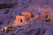 Continental Architecture And Art Prints - Ruins Of Ancient Pueblo Indian Or Print by Ira Block