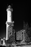 Faro Photos - ruins of san francisco convent and lighthouse Barrio Historico Colonia Del Sacramento by Joe Fox