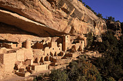 Rocky Cliff Posters - Ruins Of The Anasazi Cliff Palace Poster by Ira Block