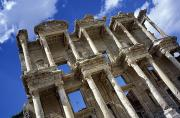 Turkey Metal Prints - Ruins Of The Great Library At Ephesus Metal Print by Axiom Photographic