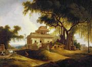 Vines Painting Posters - Ruins of the Naurattan Poster by Thomas Daniell