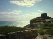 Oasis Digital Art - Ruins of Tulum by Lauren Goia