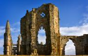 Whitby Photos - Ruins of Whitby Abbey by Louise Heusinkveld
