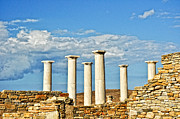 Delos Prints - Ruins On The Island Of Delos Print by Linda Pulvermacher