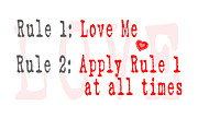 Funny Word Framed Prints - Rule 1 Love Me Framed Print by Patricia Awapara
