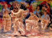 Santeria Paintings - Rumba Abakua by Samuel Lind