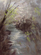 River Paintings - Rumors of Spring by Karen Ilari