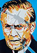 Iraq War Paintings - Rumsfeld by Dennis McCann