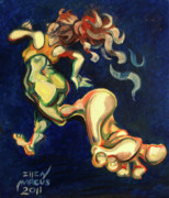 Jogging Paintings - Run Away by Ellen Marcus