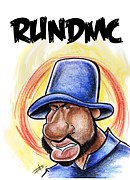 Caricature Artist Drawings Posters - Run Dmc 2 Poster by Big Mike Roate
