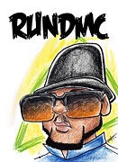 Caricature Artist Drawings Posters - Run Dmc 3 Poster by Big Mike Roate