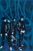 Aerosol Framed Prints - Run Dmc Framed Print by Iosua Tai Taeoalii