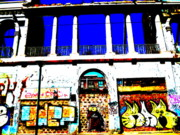 Άγιος Νικόλαος Metal Prints - Run Down Valparaiso Buildings Metal Print by Funkpix Photo Hunter