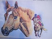 Secretariat Paintings - Run For The Cup by Peg Whiting