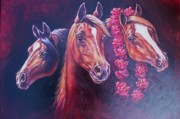 Kentucky Derby Painting Originals - Run for the Roses by Ed Breeding