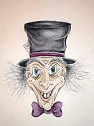 Mad Hatter Painting Originals - Run for Your Life 3 by Jen Connolly