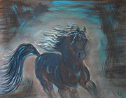 Trotting Paintings - Run Horse Run by Leslie Allen