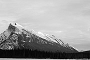 Canadian Rockies Framed Prints - Rundle Framed Print by Jordan Drapeau