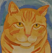 Cat Images Paintings - Runner # 3 by Cilla Mays