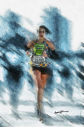 Running Digital Art - Runner by Anthony Caruso