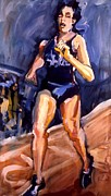 Athletes Painting Originals - Runner by Les Leffingwell