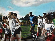 Jogging Paintings - Runnin by Howard Stroman