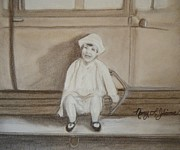 Running Pastels - Running Board Rider by Nancy L Jolicoeur