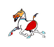 Canadian Aboriginal Artists Digital Art Originals - Running Horse by Dan Daulby
