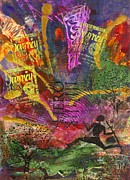 African-american Mixed Media Posters - Running Man Poster by Angela L Walker