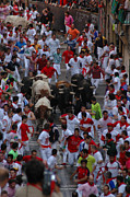 Running Of The Bulls Posters - Running of the Bulls Poster by Kristopher Kettner