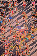 Marathons Prints - Running on Peachtree  Print by Rod Kaye