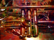 Horn Digital Art Prints - Running On Three Cylinders v1 Print by Michael C Geraghty