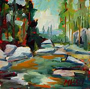 Plein Air Art - Running Waters plein air by Marie Massey