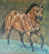 Broodmare Art - Running with Class by Tina Price