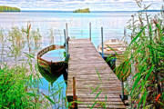 Landing Stage Prints - Runway to the lake Print by Heiko Koehrer-Wagner