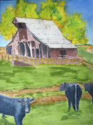 Old Barn Paintings - Rural America by Vickey Swenson