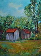 Outbuildings Painting Framed Prints - Rural Architecture Framed Print by Ginger Concepcion
