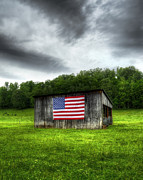 4th July Photo Posters - Rural Barn Poster by Steve Hurt