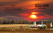 Amish Farms Posters - RURAL BARNS  my BOOK COVER Poster by Randall Branham