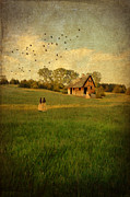 Charming Cottage Photo Prints - Rural Cottage Print by Jill Battaglia