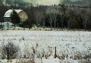Barn Storm Prints - Rural landscape Print by Marlene Ford