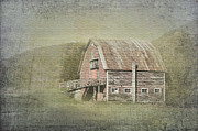 Red Barn. New England Digital Art Prints - Rural Life Print by Betty LaRue