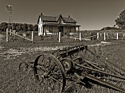 Archives Photo Metal Prints - Rural Ontario sepia Metal Print by Steve Harrington