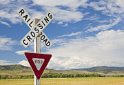Yield Posters - Rural Railroad Crossing Poster by Bryan Mullennix