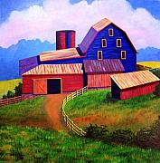 Old Barn Prints - Rural Reverie Print by Hugh Harris