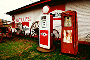 Pumps Prints - Rural Roadside Antiques Print by Toni Hopper