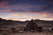 Rural America Framed Prints - Rural Sunset Framed Print by Andrew Soundarajan