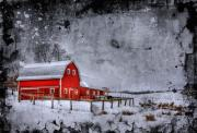 Barn Digital Art - Rural Textures by Evelina Kremsdorf