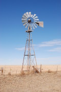 Best Sellers Posters - Rural Windmill Poster by Melany Sarafis